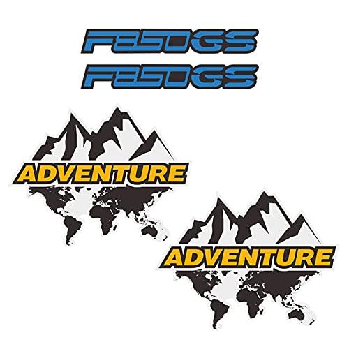 Fit F850GS F850 F 850 GS ADV per BMW Adventure Adesivi per moto Adesivi DECALS Top Late Side Box Cases Panniers Bagagli alluminio (Color : B)