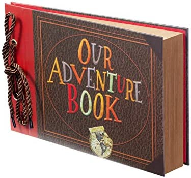 Scrapbook Photo Album Our Adventure Book Scrapbook Photo Book Embossed Words Hard Cover Movie product image