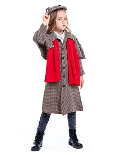 Disfraz De Detective Para Niños Cosplay Disfraz De Halloween Para Adultos Abrigo Sherlock Holmes,XL
