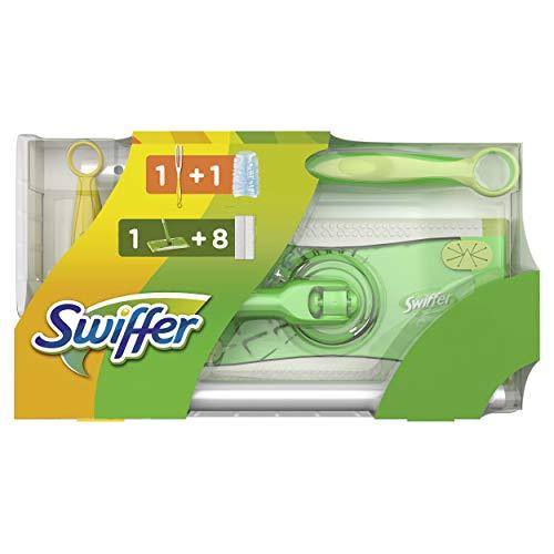 Swiffer Starterset mit 1Bodenwischer + 8Trockenen Bodentüchern + 1 Staubmagnet + 1 Tuch