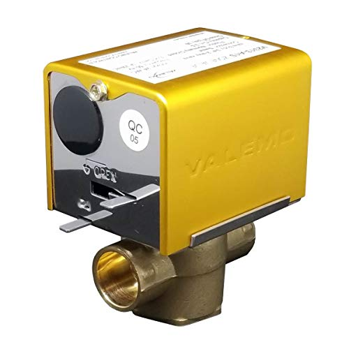 Valemo V2313-A1S Motorized Zone Valve, 2-way, 3/4' Sweat, Normally Closed, 24 VAC with End Switch