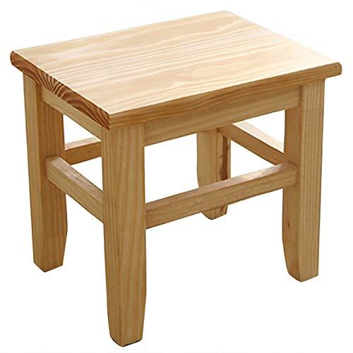 TTBD Multi-Function Tabouret de Banc en Bois Massif Tabouret Enfant Adulte Salon Maison Petit Banc Canapé Table de Thé Chaise sur Bain Tabouret de Bain