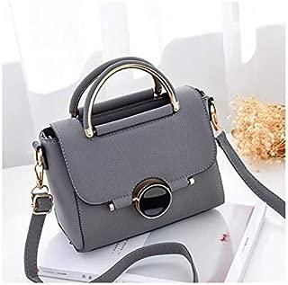 Asdfnfa New Ladies Bag Hardware Decoration Fashion Shoulder Bag Fashion Mobile Female Bag (Color : Gray)