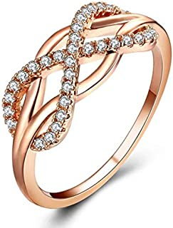 Women ring with crystal, size 8