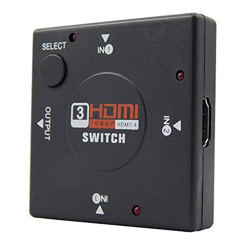 Switch HUB HDMI Saídas Universal Plug Play Alta Resolução Full HD