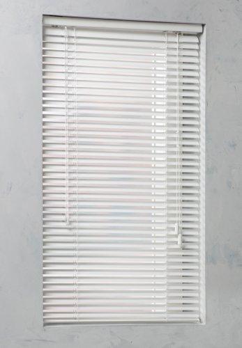 dtch Aluminium Jalousie 25 mm Lamellen-Breite wählbar Länge 250 cm (Weiss, 115 x 250)