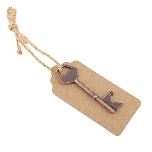 Mothinessto Pretty with Tag Card con abridor de Botellas de Cordel para graduación 7.6 * 2.8cm /2.99 * 1.10 Pulgadas(50 Piezas + Cuerda de cáñamo + Tarjeta)