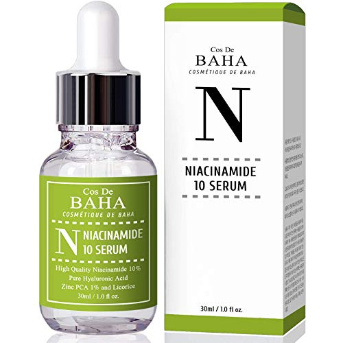 Niacinamide 10% + Zinc 1% Serum for Face - Pore Reducer + Uneven Skin Tone Treatment + Diminishes Acne Prone, Korean Skin Care (1 fl-oz)
