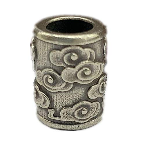 Perlas de latón antiguo Xiangyun barril EDC DIY Accesorios Paracord llavero de cuentas de pulsera accesorios de abalorios, collar colgante, cordón de cordón, dijes de latón (1 unidad)