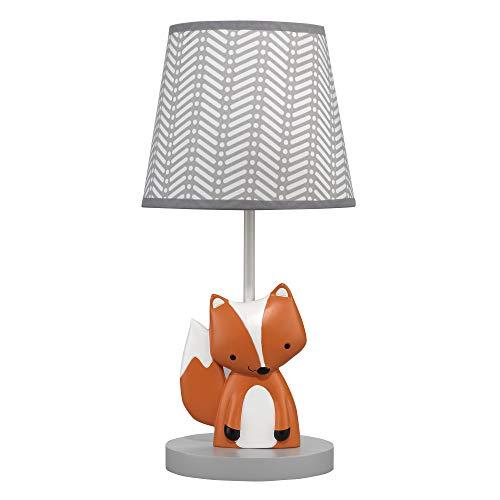 Bedtime Originals Acorn Lamp with Shade & Bulb, Orange