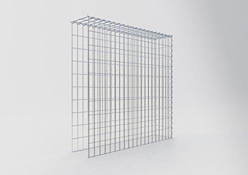 Cesta cuadrada para muro de gaviones, malla de 5x 10cm, profundidad de 20cm, cesta de cultivo galvanizada tipo 4, cierre en espiral