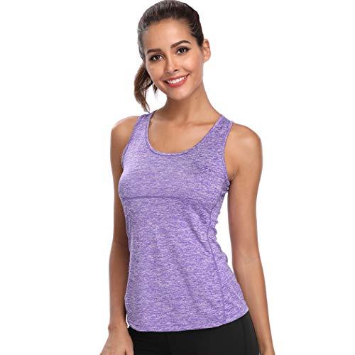 Joyshaper - Camiseta de Entrenamiento para Mujer, de compresión rápida, Deportiva, para Yoga y Fitness, para Correr Morado XL