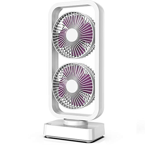 OPOLAR Cordless Rechargeable Oscillating Tower Fan, 5000mAh Battery Operated Desk Fan, with 3-12H...