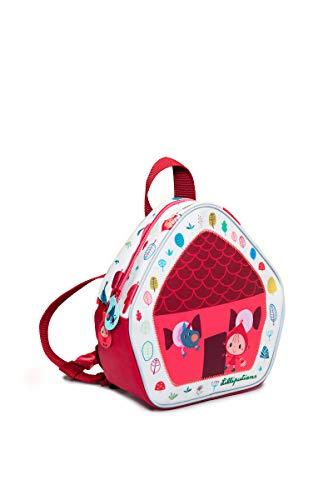 Lilliputiens 84409 Rucksack Kinderrucksack Kindertasche im Design Rotkäppchen, Größe 20x22x8cm