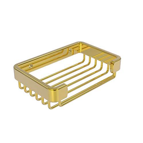 Allied Brass BSK-30SR Rectangular Soap Shower Basket, Polished Brass