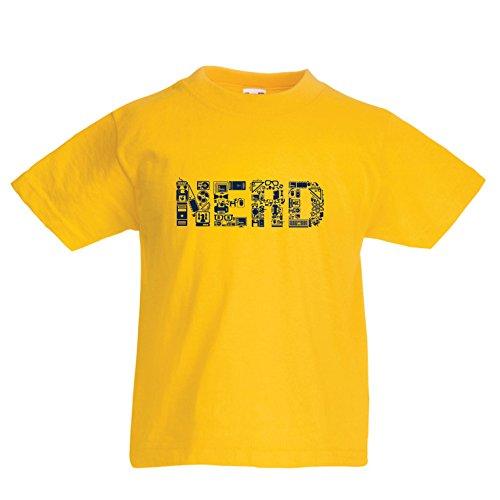 lepni.me Kinder Jungen/Mädchen T-Shirt Nerd - Programmierer oder Gamer lustige Geschenkidee (9-11 Years Gelb Mehrfarben)