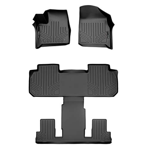 SMARTLINER SA0345/B0345 for 2018-2020 Chevrolet Traverse with 2nd Row Bucket Seats, Black