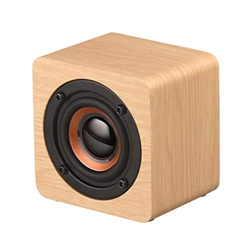 Altavoz Bluetooth inalámbrico de Madera, Q1 teléfono móvil Mini Audio Creativo, Altavoz Bluetooth 4.2, Batería de Litio de 1200 mAh (Color : Bluetooth Speaker 4)