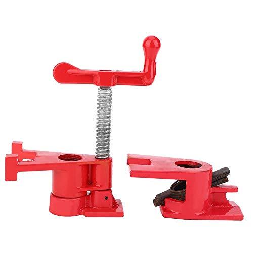 Abrazadera de tubo, 3/4 pulgadas Clip de resorte de hierro fundido Carpintería vertical con manivela Fijación rápida Herramienta de carpintero para imposición de carpintería