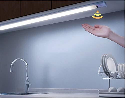 Barra a led sottopensile da interno per cucina luce fredda bianco freddo 6500K lampada plafoniera 30 cm con sensore movimento sfioramento mano dimmerabile 380 lumen 5W