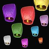 10 pcs Cielo Lanterns colores mixtos farolillos chinos voladores, Mini sky lantern globo de aire caliente, papel de arroz no inflamable seguro, Cielo Linternas más mágico que fuego pirotécnicos