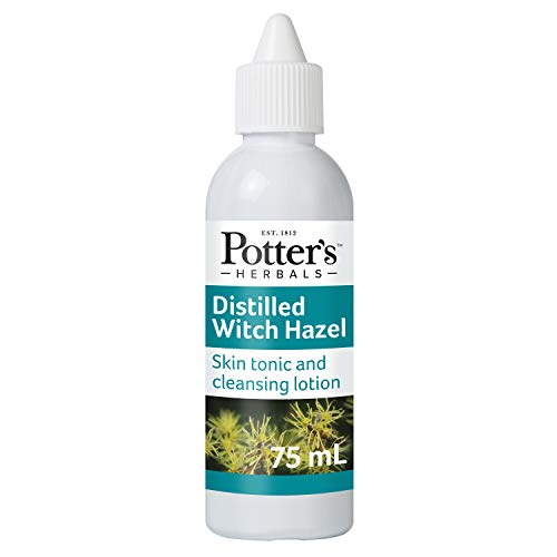 Potter's Herbals Distilled Witch Hazel | 75 ml Bottle | With Hamamelis Virginiana Twig Extract (Witch Hazel) | A Skin Tonic Used to Cleanse & Refresh The Skin