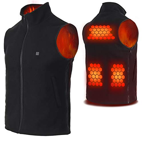 Vinmori USB Electric Heated Vest Size Adjustable Heated Clothing For Men Women (Not Include Battery)