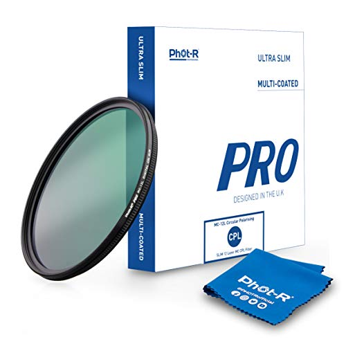 Phot-R 58mm Pro Filtro Polarizzato Multirivestito 12 strato Ultra sottile circolare vite in polarizzata Antipolvere Antigraffio Idrorepellente filtro DSLR