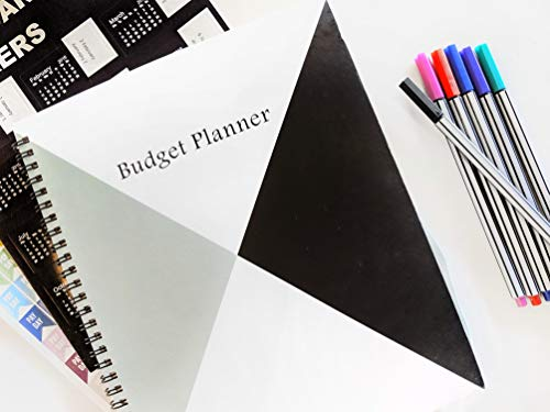 Budget Planner Organizer: Receipt Organizer Planner Budget Book, Monthly Bill Organizer with Pockets, Accounting Ledger Book for Bookkeeping, Planner Inserts-Bonus: 6 Fineliner Pens, Calendar Stickers