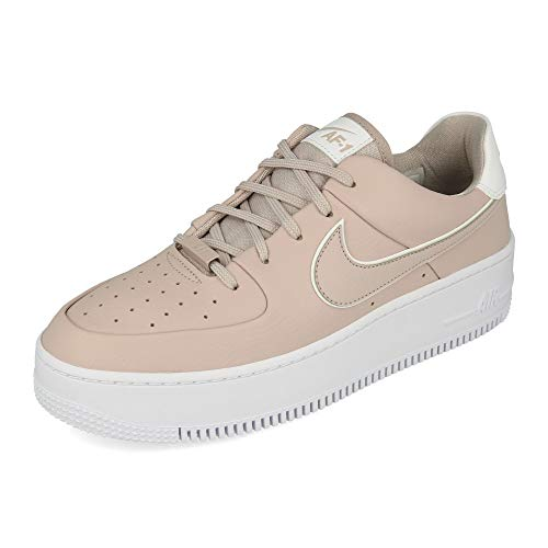 Nike Air Force 1 Sage Low Women's S, Zapatillas de básquetbol para Mujer, Platinum Violet White Platinum Violet, 44.5 EU