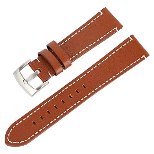 HNGM Correas para Relojes de Hombre 18 20 22 24mm de la Correa de Cuero de Las Mujeres de 24 mm Cinturón de la Banda de la Correa de Reloj Durable Soft Pin Hebilla Strap Watch Accesorios