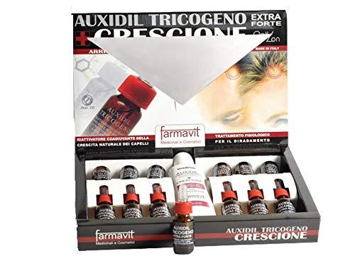 Farmavit Fiale per Capelli anticaduta auxidil tricogeno extra forte crescione+SH
