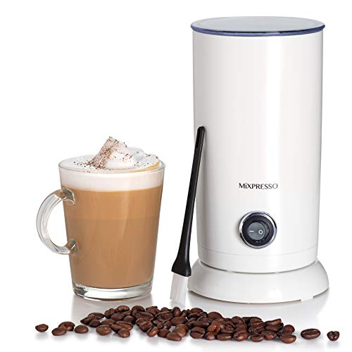 Electric Milk Frother - Latte Art Steamer, Electric Cappuccino Machine And Milk Warmer - by Mixpresso (White)