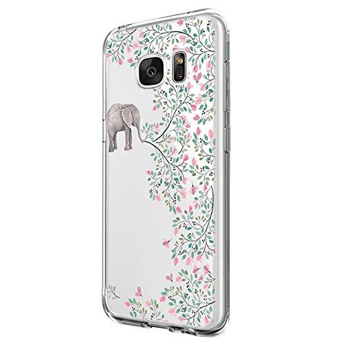 Jeack Hülle Kompatibel mit Samsung Galaxy S7 Hülle, Crystal Clear Handyhülle Ultra Dünn Flexibel Silikon Case Slim Transparent Schutzhülle Tasche case Bumper Cover für Samsung Galaxy S7 (8)