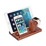 ZeroElec Solid Rose Wood Charge Dock Holder Docking Station Cradle Bracket iproducts and Other Phones Tablets