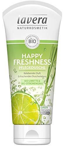 lavera Happy Freshness Pflegedusche Bio Limette & Zitronengras ∙ Belebender Duft ∙ Vegan Bio Pflanzenwirkstoffe Naturkosmetik Natural & innovative Duschgel 1er Pack (1 x 200 ml)