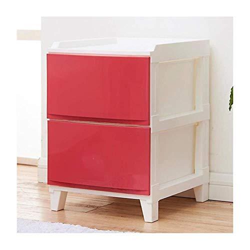 Panier de rangement La Mode tiroirs Armoire de Rangement en Plastique Multilayer Locker Simple Salon Armoire de Chevet Simple (Color : Red)