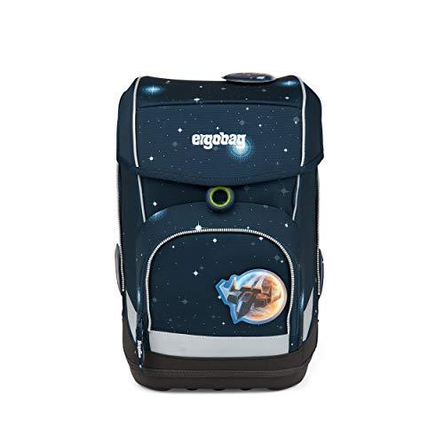 ergobag cubo Set - ergonomischer Schulrucksack, Set 5-teilig - KoBärnikus Glow - Blau