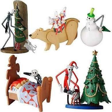 U.C.C. Distributing Exclusive Nightmare Before Christmas Jack Skellington 4 Pc. Figurine Playset - NMBC Figure Set