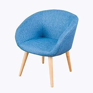 Cenar sillas de Madera, sillas de Estilo Moderno Sofá Sillas tapizadas de Ocio con Patas de Madera para Cocina, Comedor, Dormitorio, Sala de Estar,Azul
