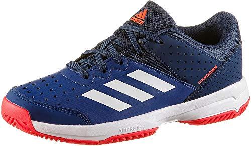 adidas Unisex-Kinder Court Stabil Handballschuhe, Mehrfarbig (Tinmis/Ftwbla/Azuosc 000), 35 EU