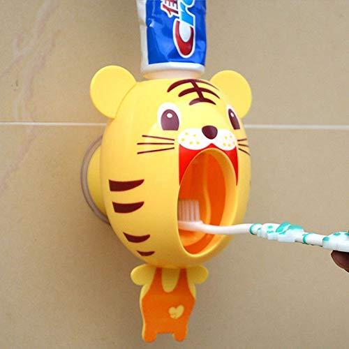 weichuang Exprimidor de pasta de dientes automático Touch exprimidor automático dispensador de pasta de dientes manos libres exprimidor de pasta de dientes (color: caqui oscuro)