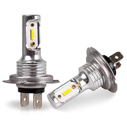 MCYAW Kit de conversión de Bombillas H7 LED LED HI/LO HIVA 55W 8000LM 6000K Super SOPTRY (Emitting Color : White, Socket Type : H7)