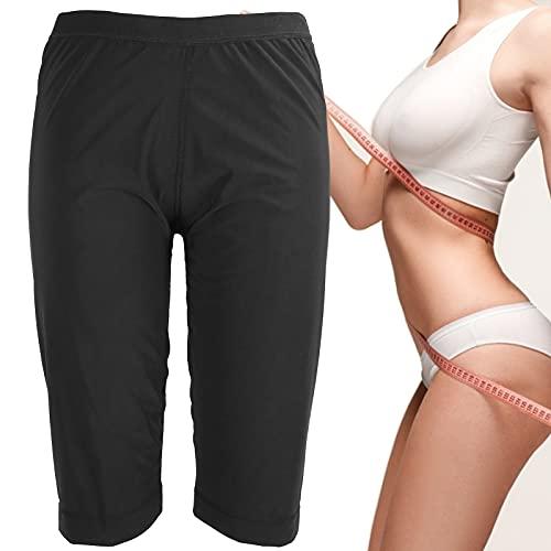 Pantalones deportivos para sauna, pantalones cortos deportivos para sauna para mujer, pantalones de entrenamiento para moldear el cuerpo(L/XL)