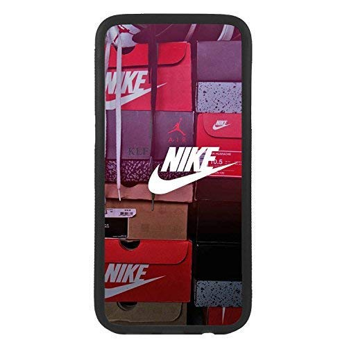 custom-cases Funda Carcasa de TPU para movil con diseño de Nike Cajas de Zapatillas Logo Compatible con Samsung S6 Edge Plus