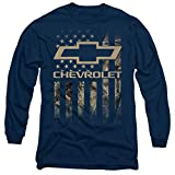 chevy silverado shirts for men - Chevrolet Camo Flag Unisex Adult Long-Sleeve T Shirt for Men and Women, Large