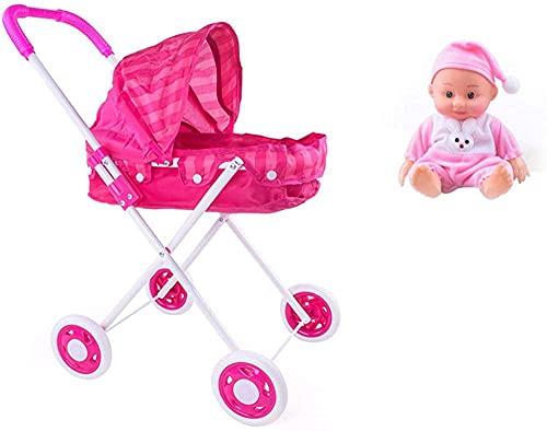 Carrito de muñecas Carrito de muñecas de Juguete para niños Niño y niña Carrito de Juguete con Marco para niños Relleno de Hierro con muñeca Reborn El Mejor Servicio