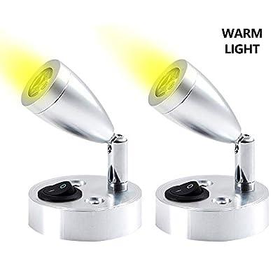 Ángulo de iluminación múltiple: puede ajustar la dirección de la luz girando la farola. 360 ° horizontalmente y 180 ° verticalmente, se adapta a necesidades ilimitadas de dirección de la luz, diseño clásico para lámpara de lectura, iluminación suave ...