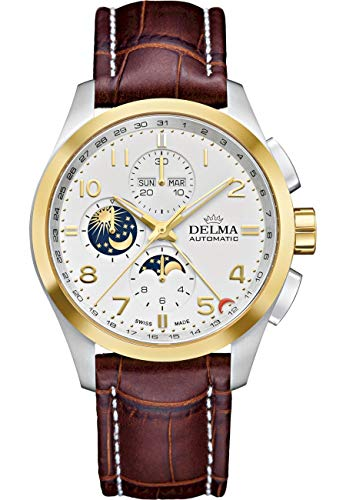 DELMA - Armbanduhr - Herren - Klondike Moonphase - 52601.680.6.012