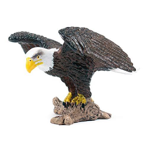FLORMON Figuras de pájaros Realista Águila marrón Set de Juguetes de Animales Simulado Juguetes de plástico de Modelos de Animales Aprendiendo Juguetes educativos para niñas niños pequeños